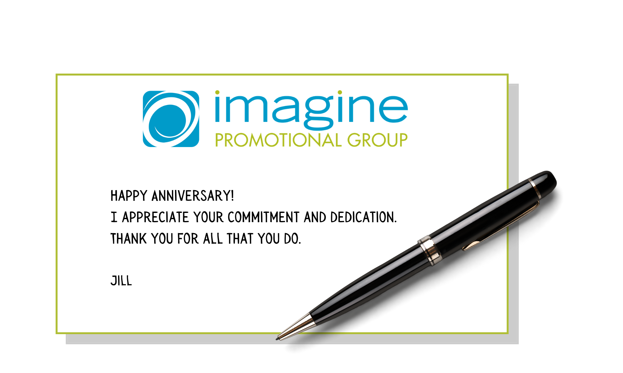 Imagine Promotional Group personalized notecard