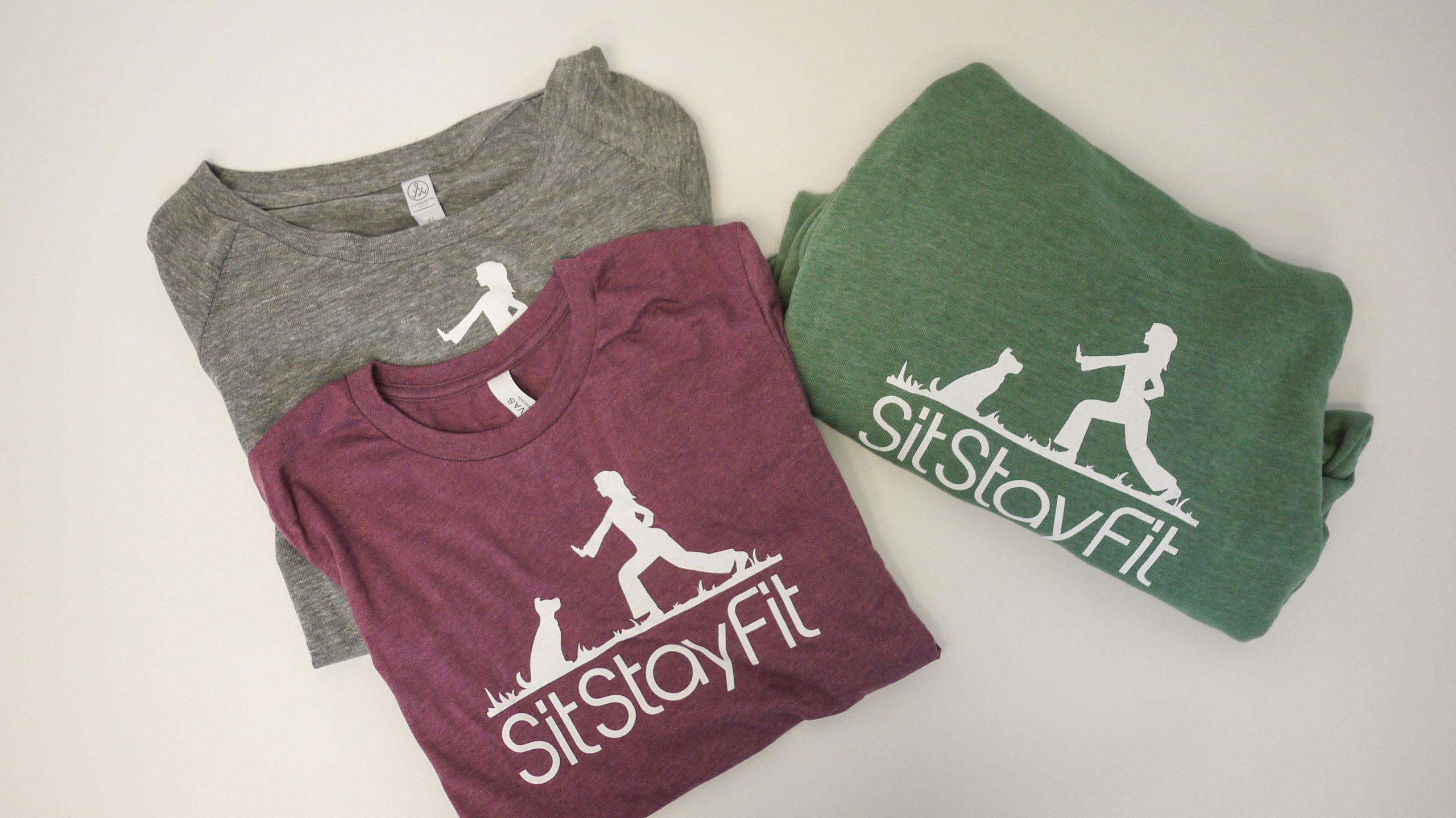 Sit Stay Fit logo on apparel
