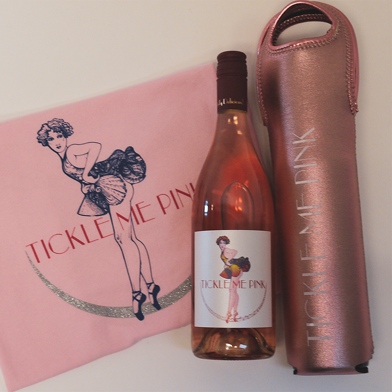 Tickle Me Pink Wine Tote and T-Shirt